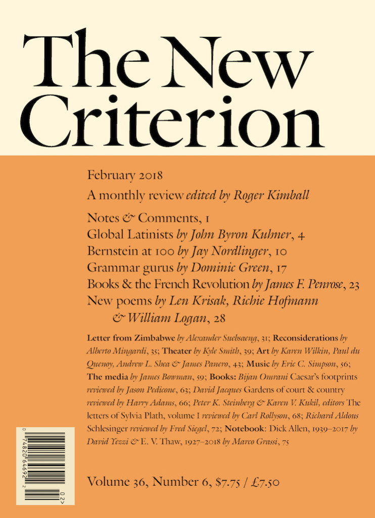 The New Criterion Feb 2018